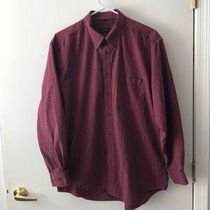 IZOD Long Sleeve Button Down Shirt size L GUC